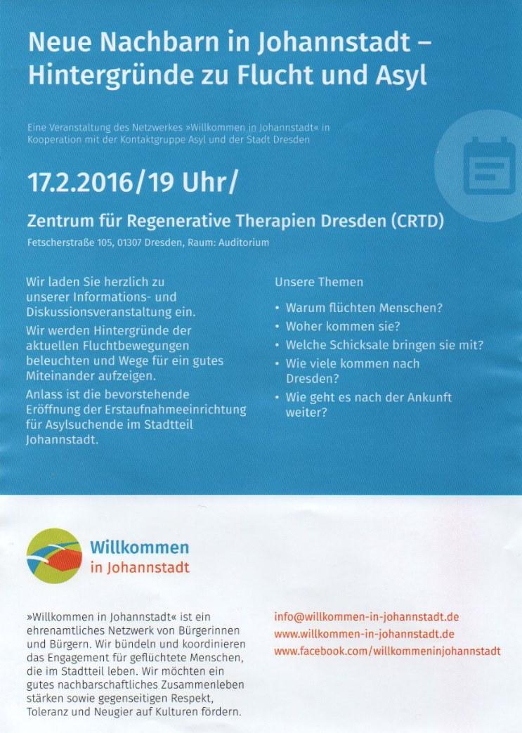 2016 - Flyer - Neue Nachbarn in Johannstadt