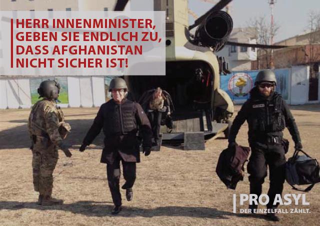 Protestpostkarte von PRO ASYL