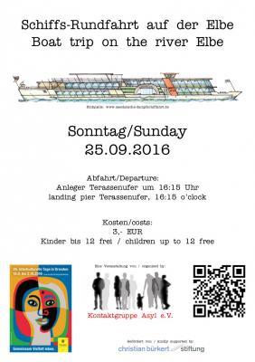 Plakat zur Schiffsrundfahrt KoGA